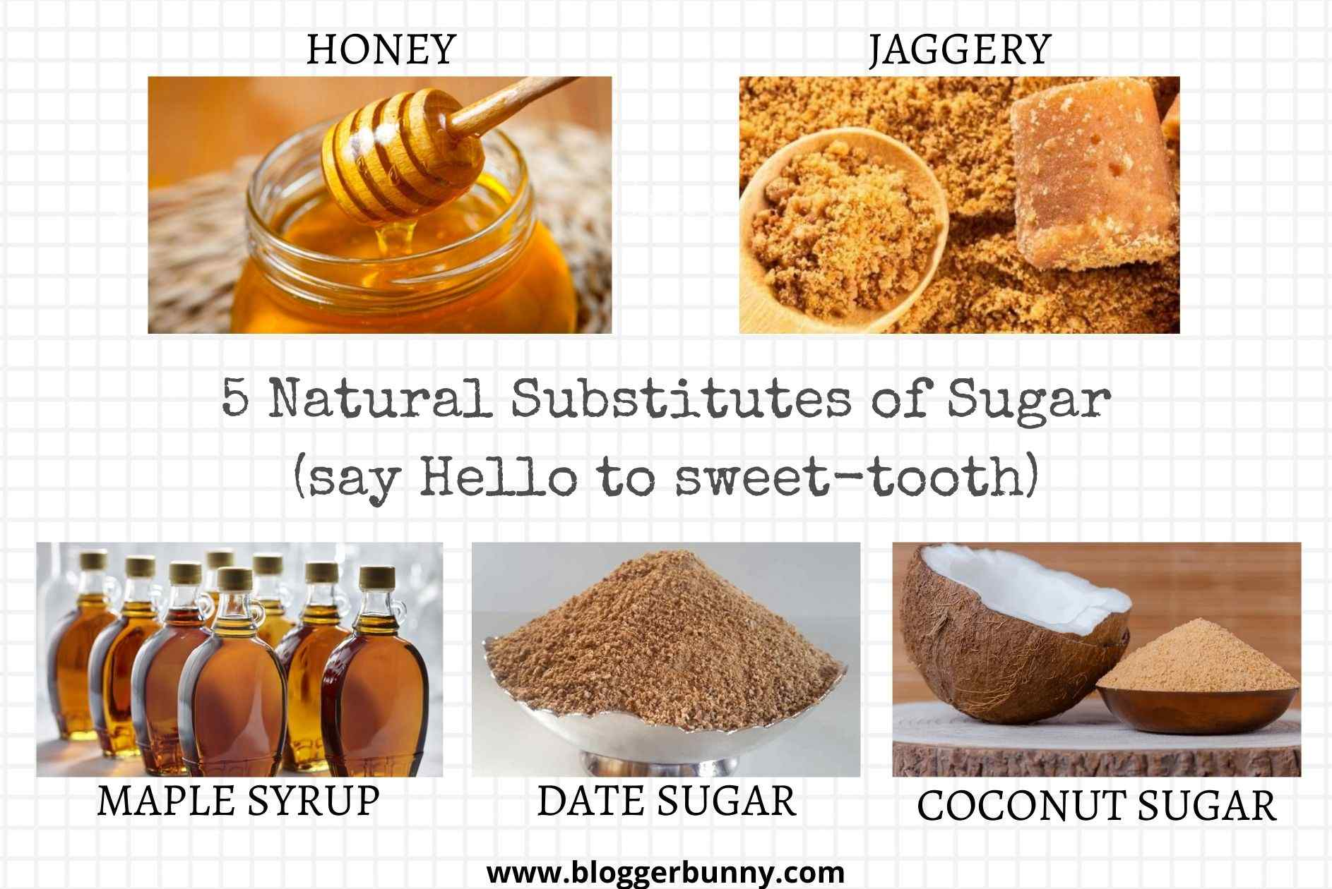 5 Natural Substitutes of Sugar (say Hello to sweet-tooth!)