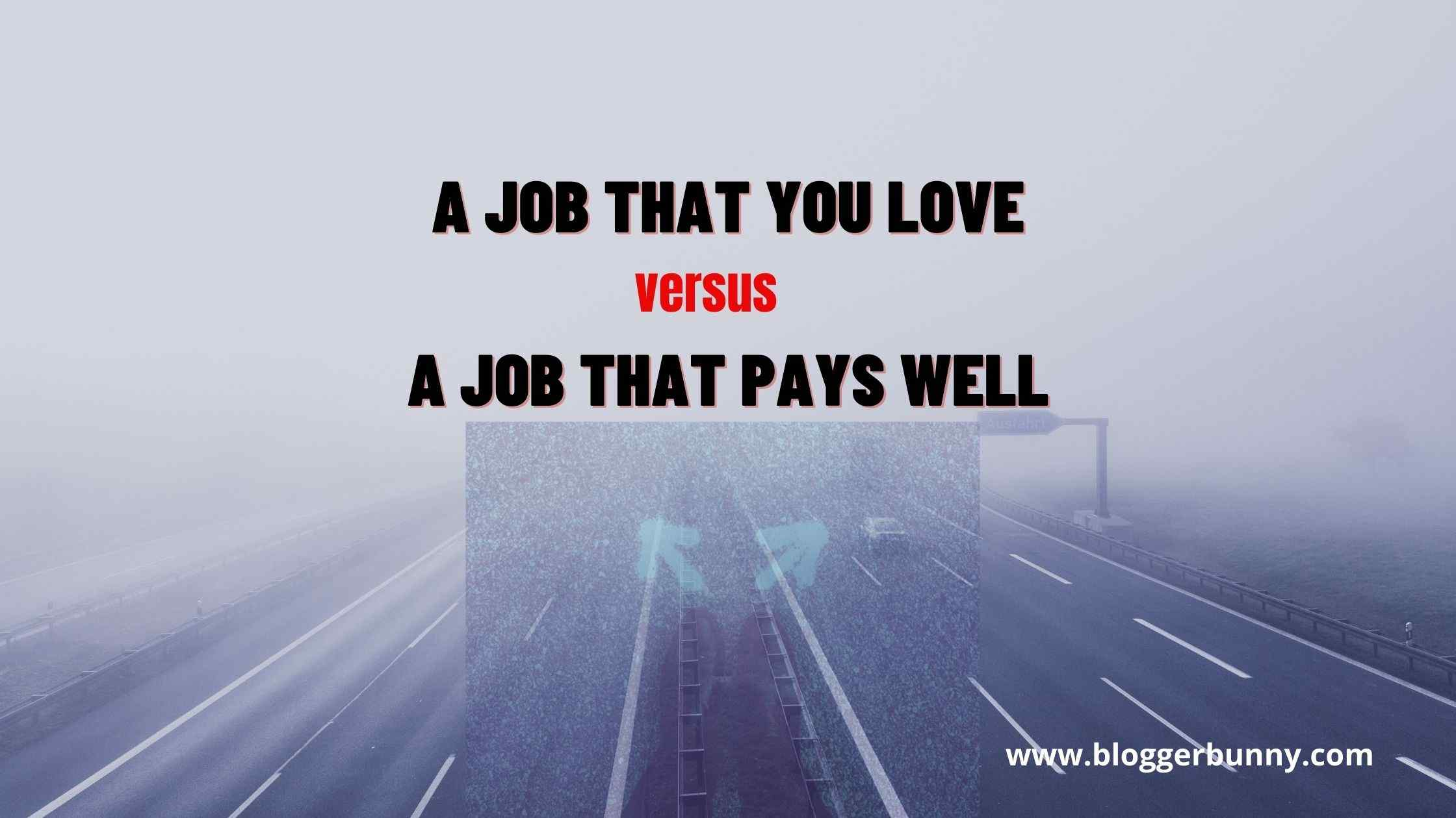 A Job That You Love versus A Job That Pays Well