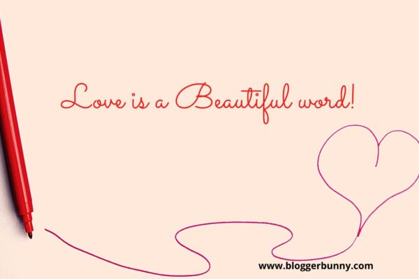 love is a beautiful word poster Blogger Bunny