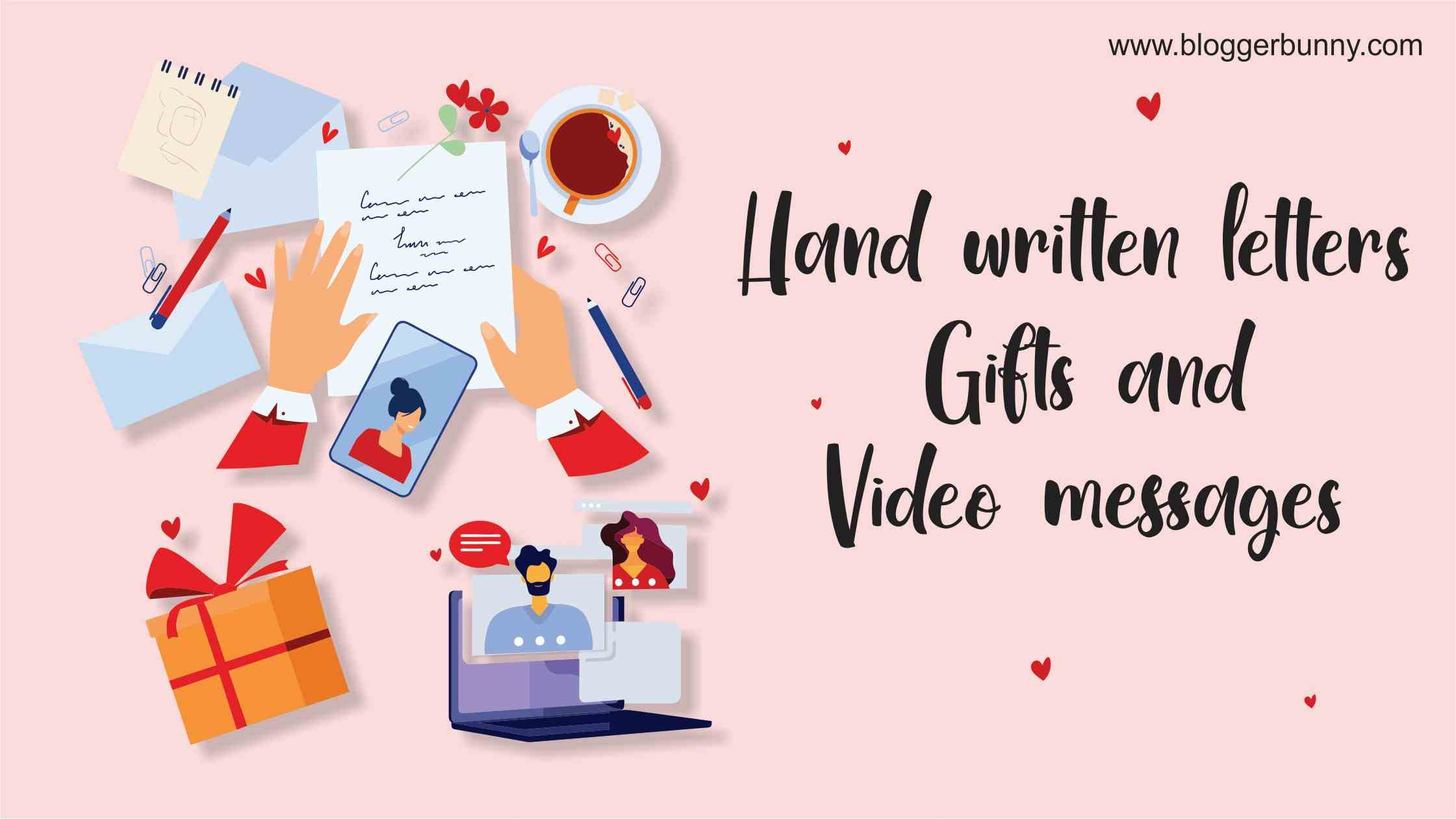 Hand made gifts and videos - How to Celebrate Valentine in Long Distance Relationship