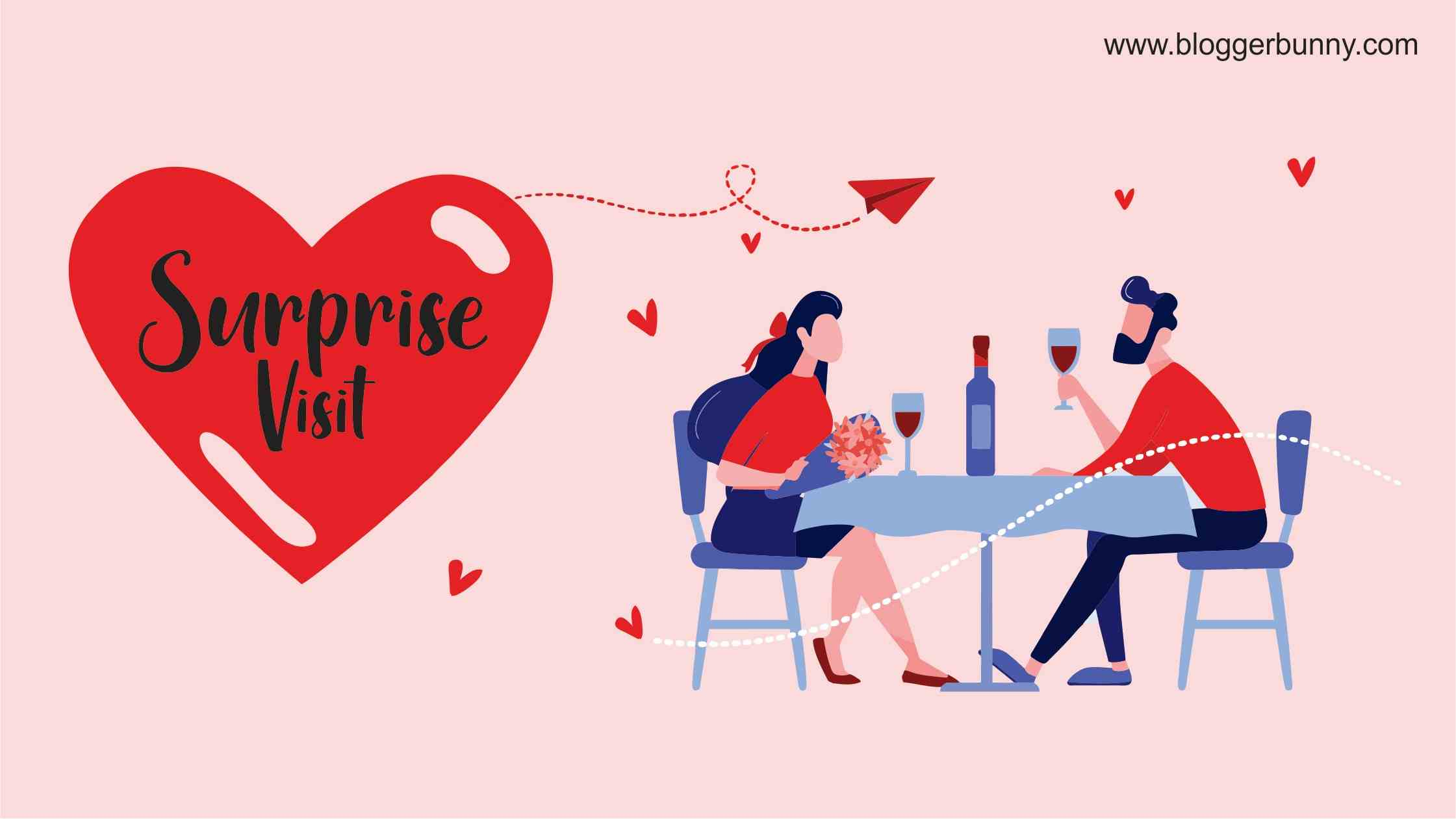 Surprise visit - How to Celebrate Valentine in Long Distance Relationship