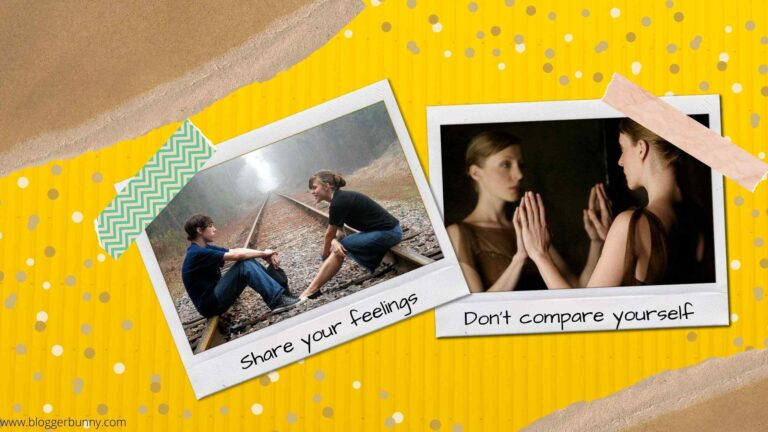 healthy habits - share your feelings and don't compare yourself with others