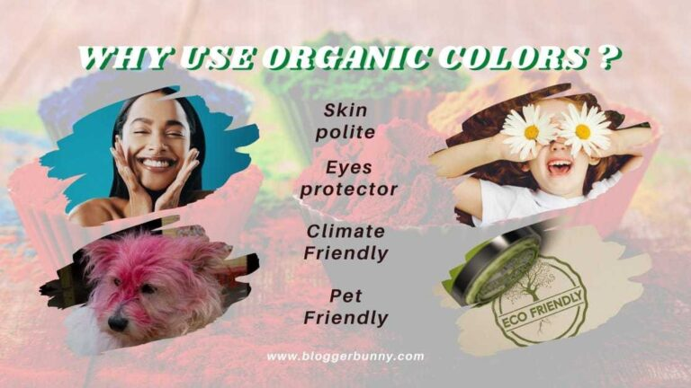 why use organic colors in holi