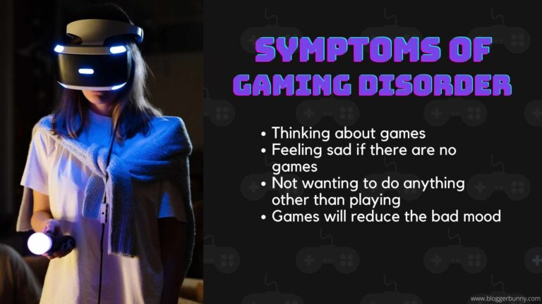 Symptoms of gaming disorder