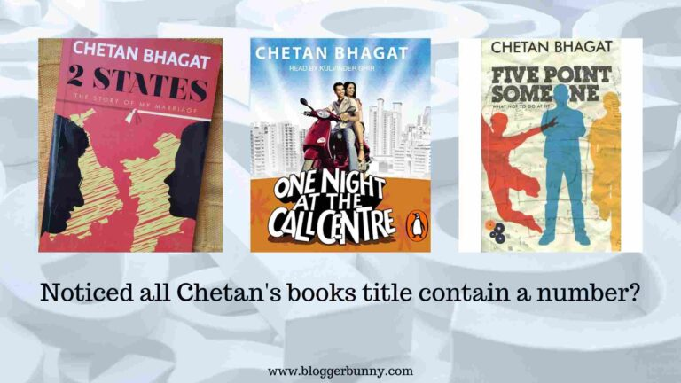 all books of Chetan bhagat contain numbers