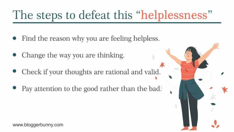 Helpless feelings