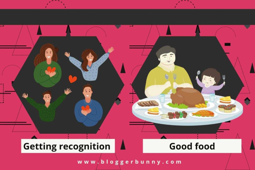 pleasure's in good food and recognition