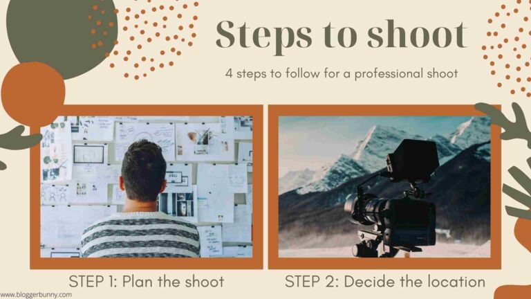 initial steps for photoshoot
